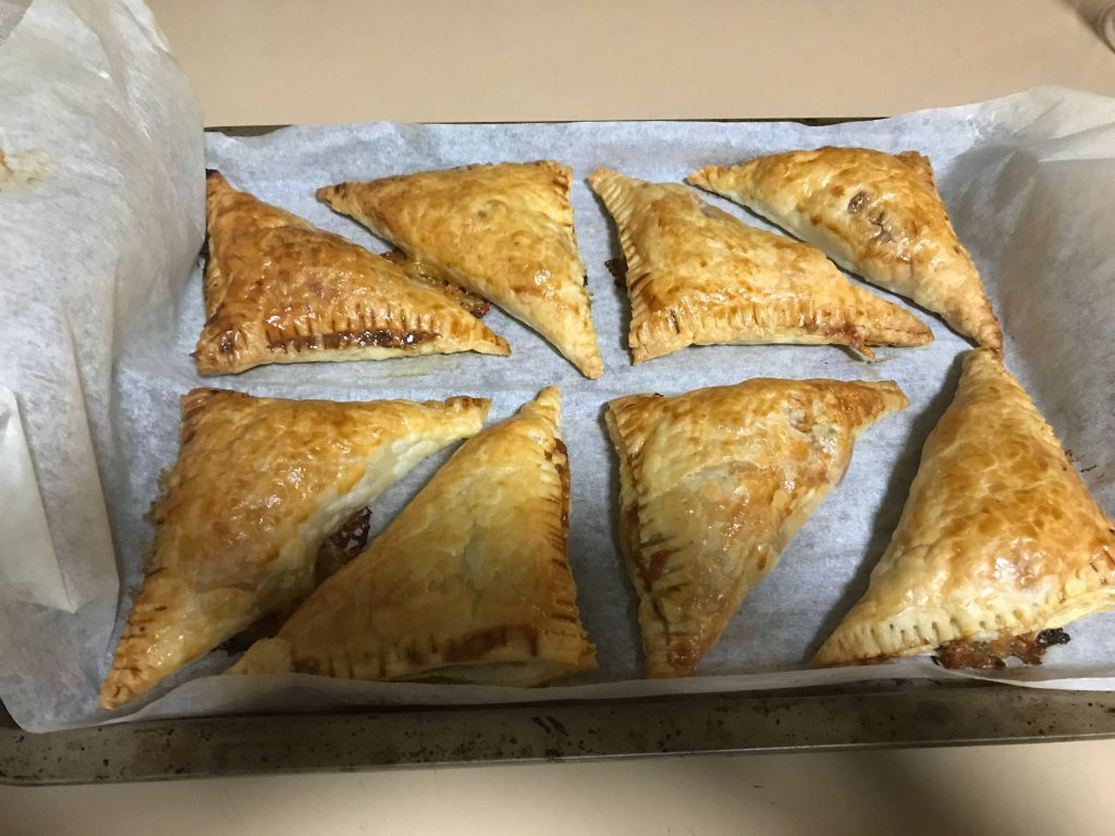 Home-Made Chicken Pasties with Vegetables